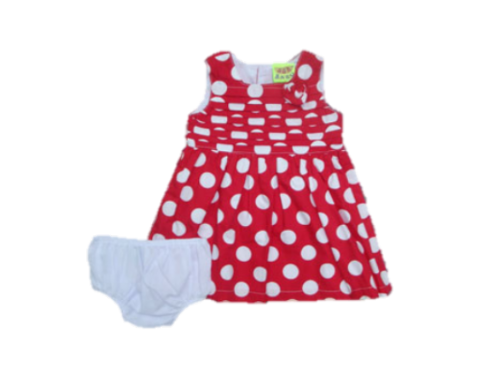 RED SPOTTY DRESS WITH PANT